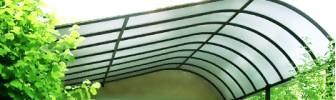 Козырьки и навесы из поликарбоната