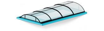 Павильон для бассейна из поликарбоната — «Эконом»