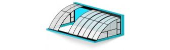 Павильон для бассейна из поликарбоната — «На стену»