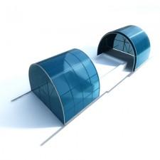 Раздвижной павильон для бассейна из поликарбоната