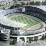Применение сотового поликарбоната в строительстве. Накрытие крыши стадиона поликарбонатом.