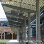 Применение монолитного поликарбоната в строительстве. Остановка из поликарбоната.