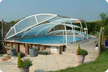 укрытие для бассейна из поликарбоната фото